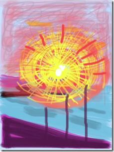 Fleurs fraîches David Hockney