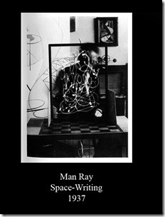 Light painting Man Ray