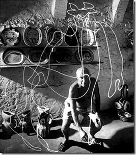 Light painting Picasso